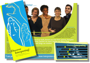 Discover Interpreting brochure and grill