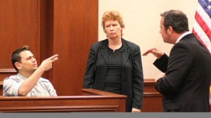 Interpreters in courtroom